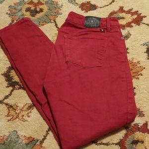 Beautiful red lucky brand lolita skinny jeans